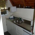 small poorly equipped kitchen