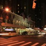 Our Hotel at night on 7th Avenue