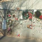 this is a fence that was originally put up after the bombing to close in the area...but they con
