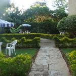 Charming garden area- meals and tea served here if desired