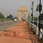 The India Gate ... all decked out for Republic Day.