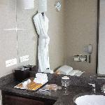 bathroom (amenities and sink)