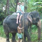 Me and my sister on the elephant