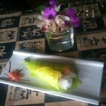 spicy scallop hand roll