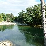 Vista del río desde el restaurante