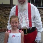 Maddie with Santa