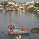 """I've landed on the beautiful island of """"Phu Quoc"""". There were colorful fishing boats floating on"""