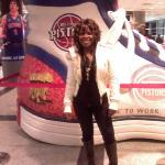 at a pistons game