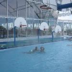 Waterpark outdoor rooftop heated pool
