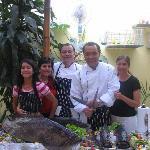 familia de cocineros