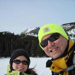 My wife and I... snowshoeing