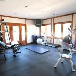 Work out in our airy and spacious fully equipped gym. It's all here waiting for you. You don't h