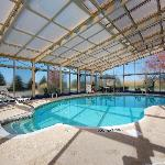 Indoor heated pool and hottub. Pool hours are 9.30 AM to 11 PM