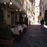 Via dei Teatro Pace next to hotel doorway