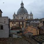 view of Sant'Agnese in Agone from the bedroom window