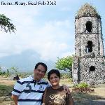 Cagsawa Ruins - Mayon Volcano as Background