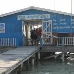 Dive shop in front of our Paradise Villas