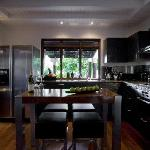 Full kitchens modernly equipped