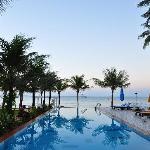 swimming pool in morning