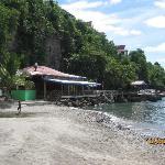 The beach bar.