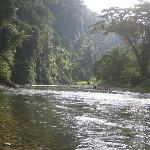 The beautiful River Bohorok that runs through Bukit Lawang