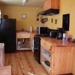 deluxe cabin, kitchen