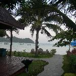 Reception's view to the beach