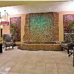 Lobby Waterfall and Seating Area