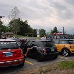 MINI Coopers rendezvous at dawn at Collins Diner