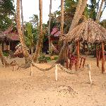 View from the beach into the main area & Casitas