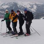 Clare, Ian, Steph & Brian the Ski Monster!