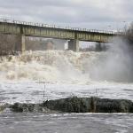 La rivière du Loup en crue au printemps.