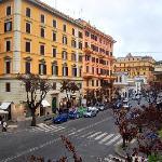 View towards via Cola di Rienzo