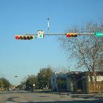 The traffic lights in Texas are hung differently then those in Los Angeles