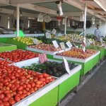 A shot of one of the many fruitstands