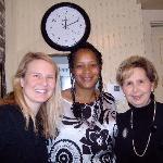 LaMonica with Mrs. Wilkes granddaughter, Marsh and great granddaughter Emily