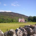 A PINK castle!!! Right next to the farm I was living on. Apparently its owned by an American fro