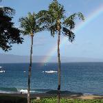 Rainbow from balcony on last day