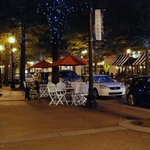 Downtown Fayetteville at night