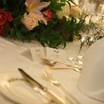 Place setting for Bride and Groom