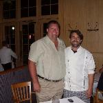 Eric and Chef Irv Miller at Jackson's