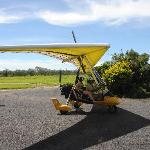 Heading out in the microlight