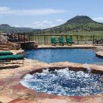 Swimming pool, and hot tub at Sproul Ranch.