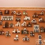 La pared de casitas