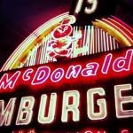 Vintage McDonald's neon sign.