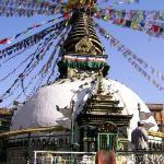 une stupa au centre de kathmandu