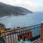 View to Manarola from rooftop terrace