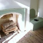 This was luxury in its day!  Complete with fireplace, five holes! Unbelievable!