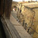 vista dalla finestra della stanza