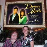 Me and my cousin Karianne in front of the Flamingo Showroom waiting to get in and see Donny and